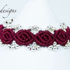 Rosebud Macrame Bracelet