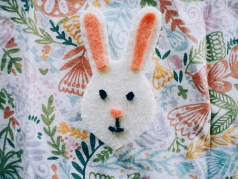 A cute accessory for springtime! .  Free tutorial with pictures on how to felt a felted brooch in under 30 minutes by sewing with felt, glue gun, and embroidery thread. Inspired by rabbits and easter. How To posted by Erin B.  in the Needlework section Difficulty: Simple. Cost: Cheap. Steps: 5