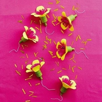 Paper Parties .  Free tutorial with pictures on how to make a party popper in under 35 minutes by papercrafting with black paper, tissue paper, and floral tape. How To posted by Anova.  in the Papercraft section Difficulty: Simple. Cost: Cheap. Steps: 7