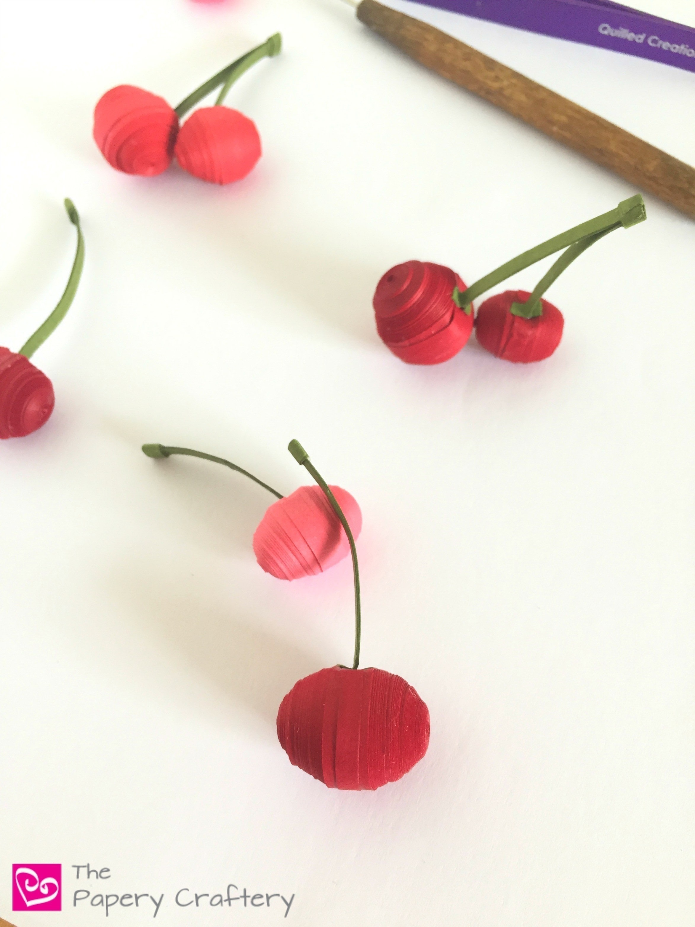 Quilling Paper Cherries How To Make A Paper Model Papercraft On