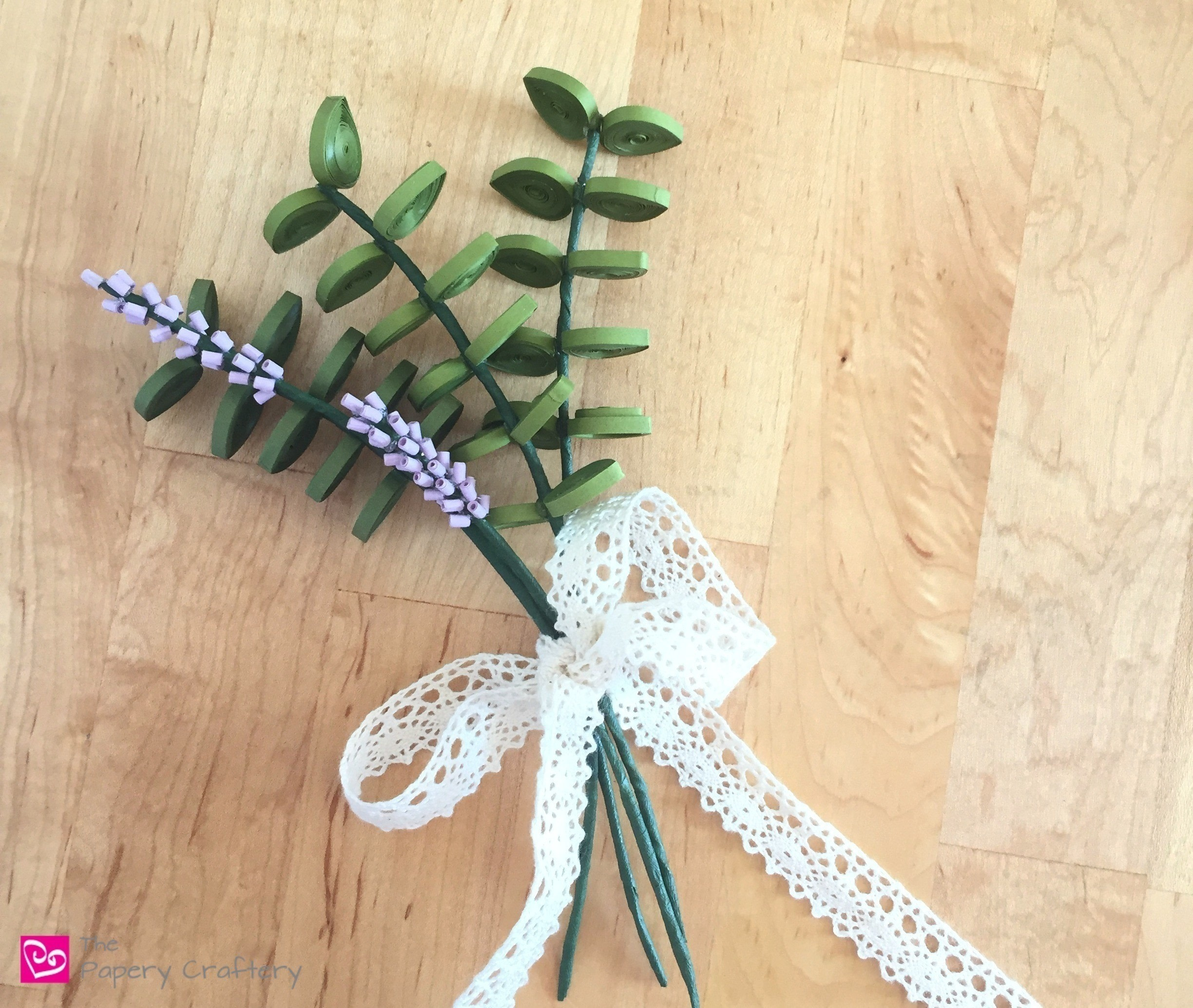 Quilling Paper Eucalyptus And Lavender How To Make A Paper Flower