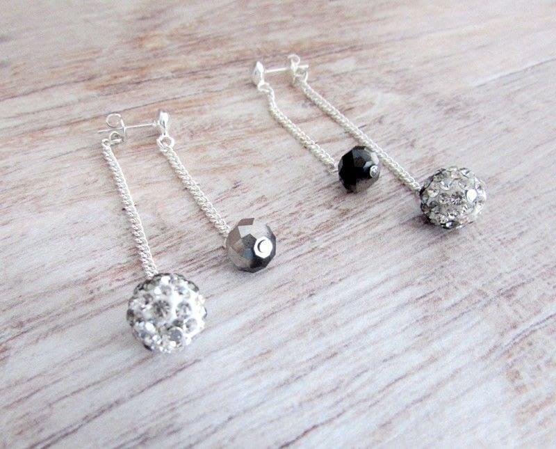 Double Chain Drop Stud Earrings · How To Make A Dangle Earring ...