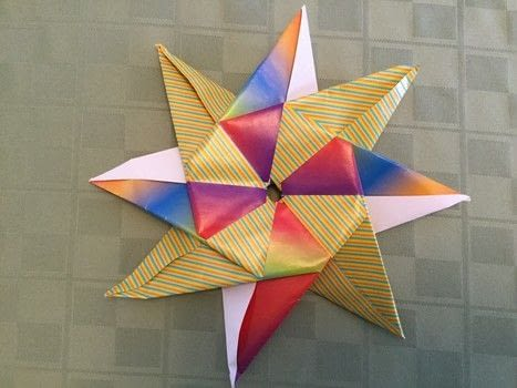 Modular Compass Star .  Free tutorial with pictures on how to fold an origami shape in under 18 minutes by paper folding with square. Inspired by stars. How To posted by The Dark Vixen.  in the Papercraft section Difficulty: Simple. Cost: Absolutley free. Steps: 21