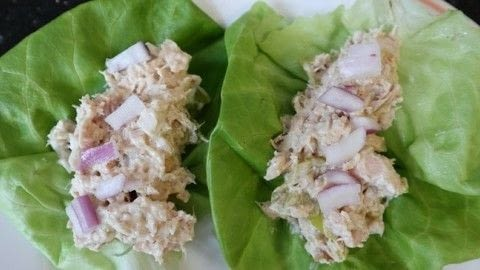 Yummy keto lunch .  Free tutorial with pictures on how to cook a tuna salad in under 30 minutes by cooking with tuna, mayo, and dijon mustard. Inspired by fish. Recipe posted by moonofsilver.  in the Recipes section Difficulty: Easy. Cost: Cheap. Steps: 5