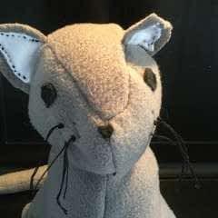 Plush Gray Kitty