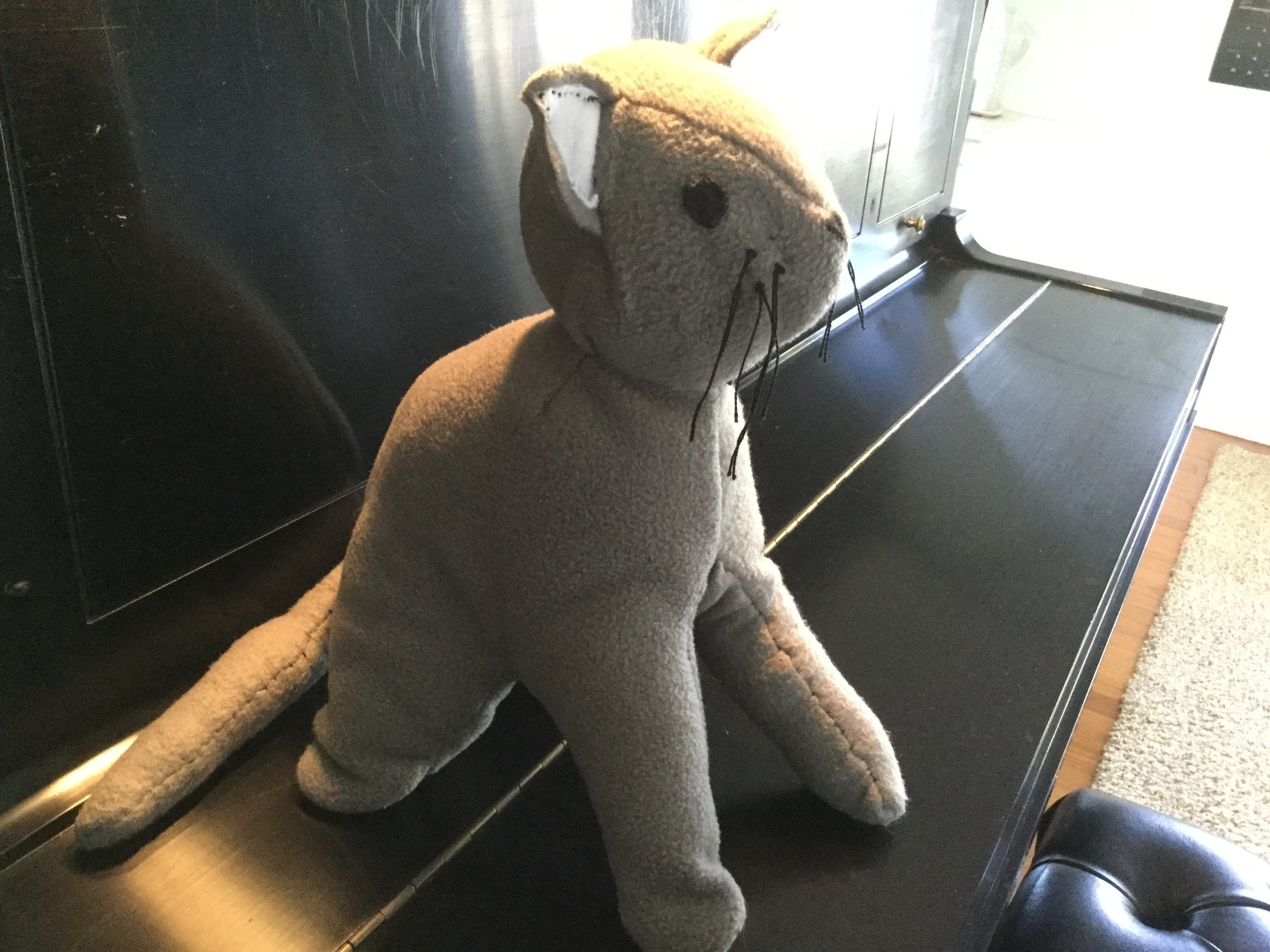 a413027ef Plush Gray Kitty · A Cat Plushie · Sewing on Cut Out + Keep ...