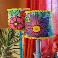 Painted Floral Lampshades