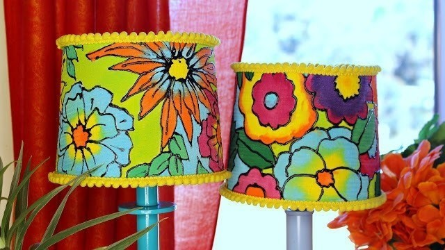 Painted Floral Lampshades How To Make A Lamp Lampshade