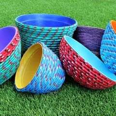Colorful Rope Bowls