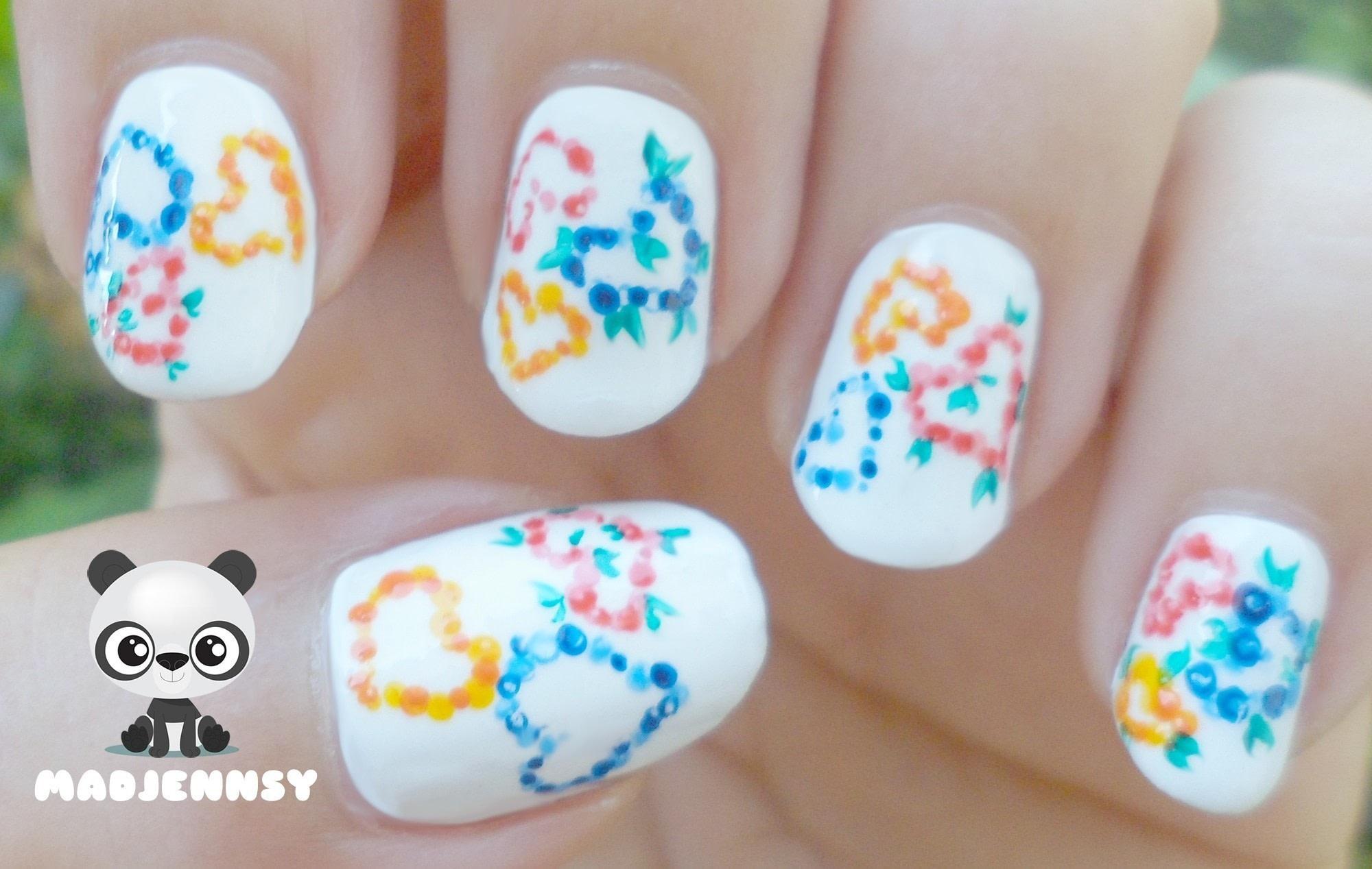 Spring Dotted Hearts Nail Art How To Paint Seasonal Nail Art