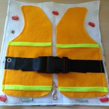 Life jacket buckle page .  Free tutorial with pictures on how to make a play book in under 60 minutes by machine sewing with felt, ribbon, and buckle. How To posted by Gemma T.  in the Sewing section Difficulty: Easy. Cost: Cheap. Steps: 5