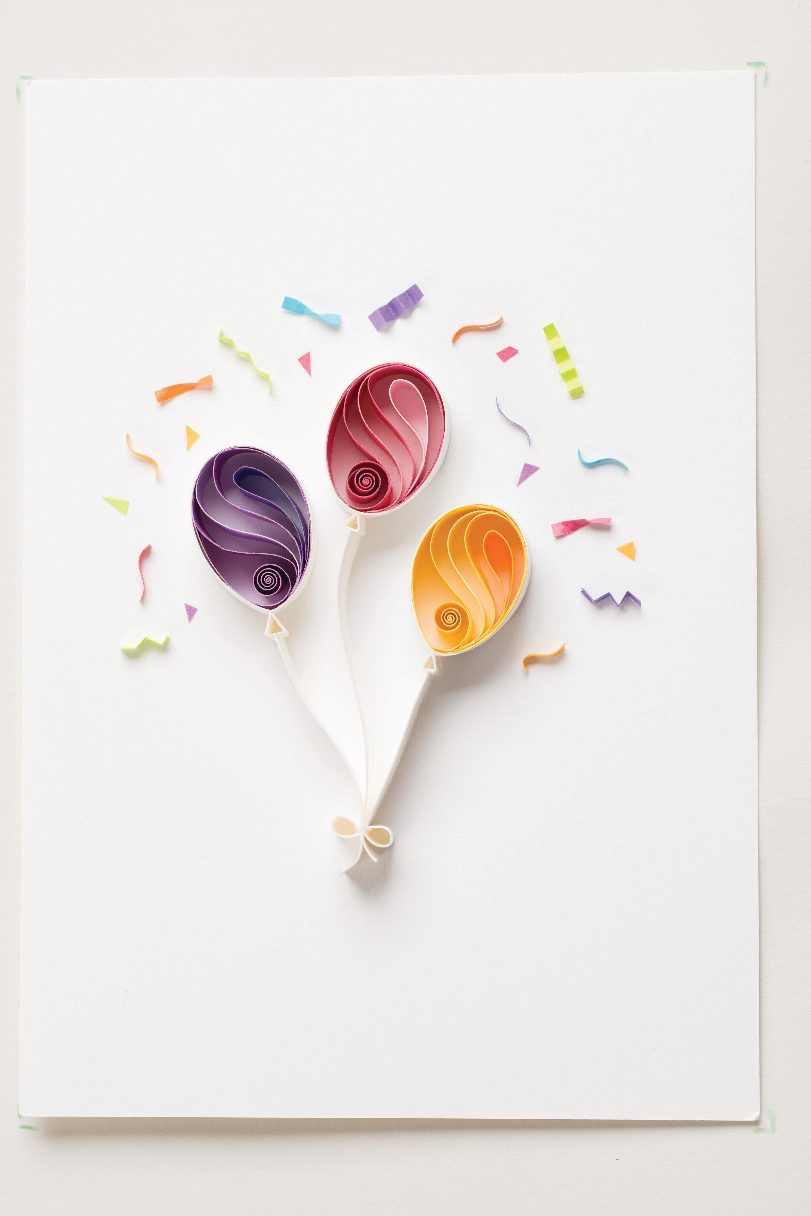 birthday balloons  u00b7 extract from quilling art by sena runa