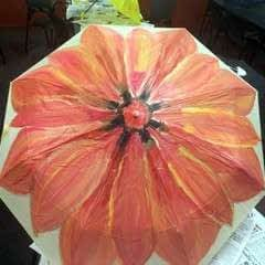 Flower Umbrella Painting