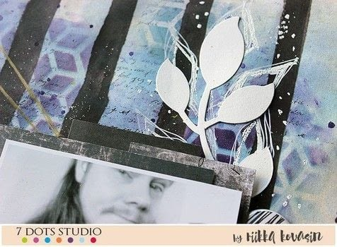 [ówt krì] - 7 Dots Studio .  Free tutorial with pictures on how to make a mixed media in under 60 minutes by creating and papercrafting with watercolor, paper, and stencil. How To posted by Riikka Kovasin.  in the Art section Difficulty: Simple. Cost: Cheap. Steps: 9