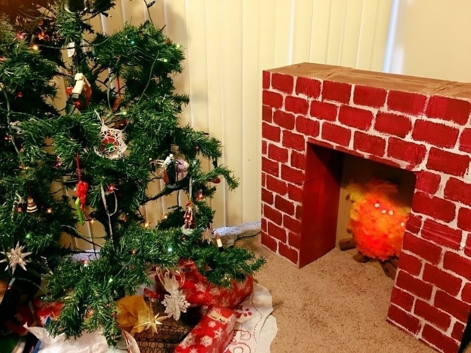 get ready to hang your stockings free tutorial with pictures on how to make a - Cardboard Box Christmas Decorations