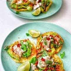 Panko Avocado Tacos