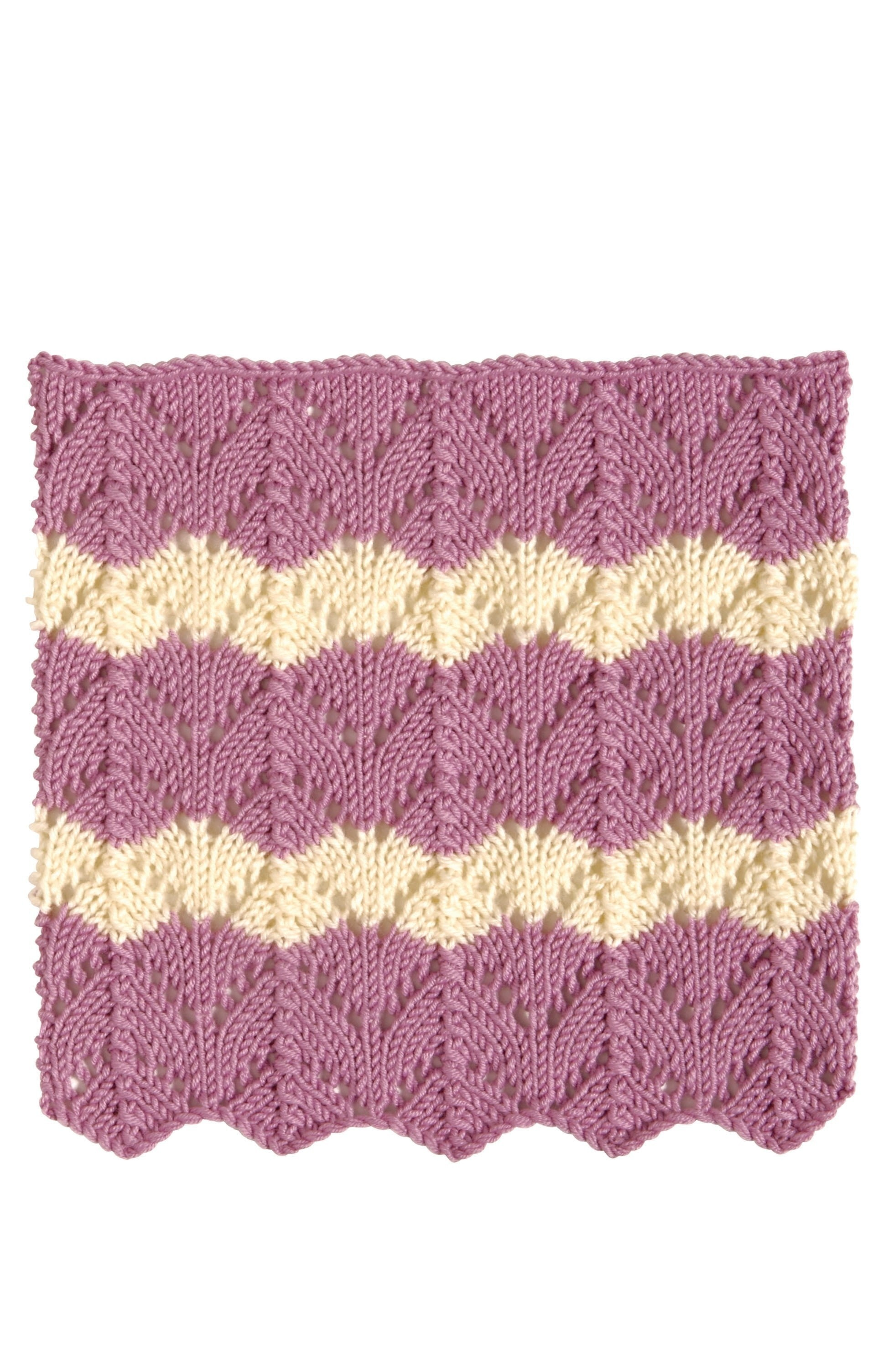 Fishtail Lace · Extract from 200 Ripple Stitch Patterns by Jan Eaton ...