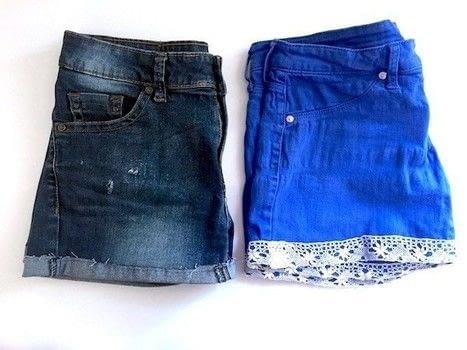 Alter your old jeans or trousers! .  Free tutorial with pictures on how to make shorts in under 60 minutes using fabric shears, sewing machine, and sewing needles. Inspired by clothes & accessories. How To posted by The Berry Cat.  in the Sewing section Difficulty: Easy. Cost: Absolutley free. Steps: 4