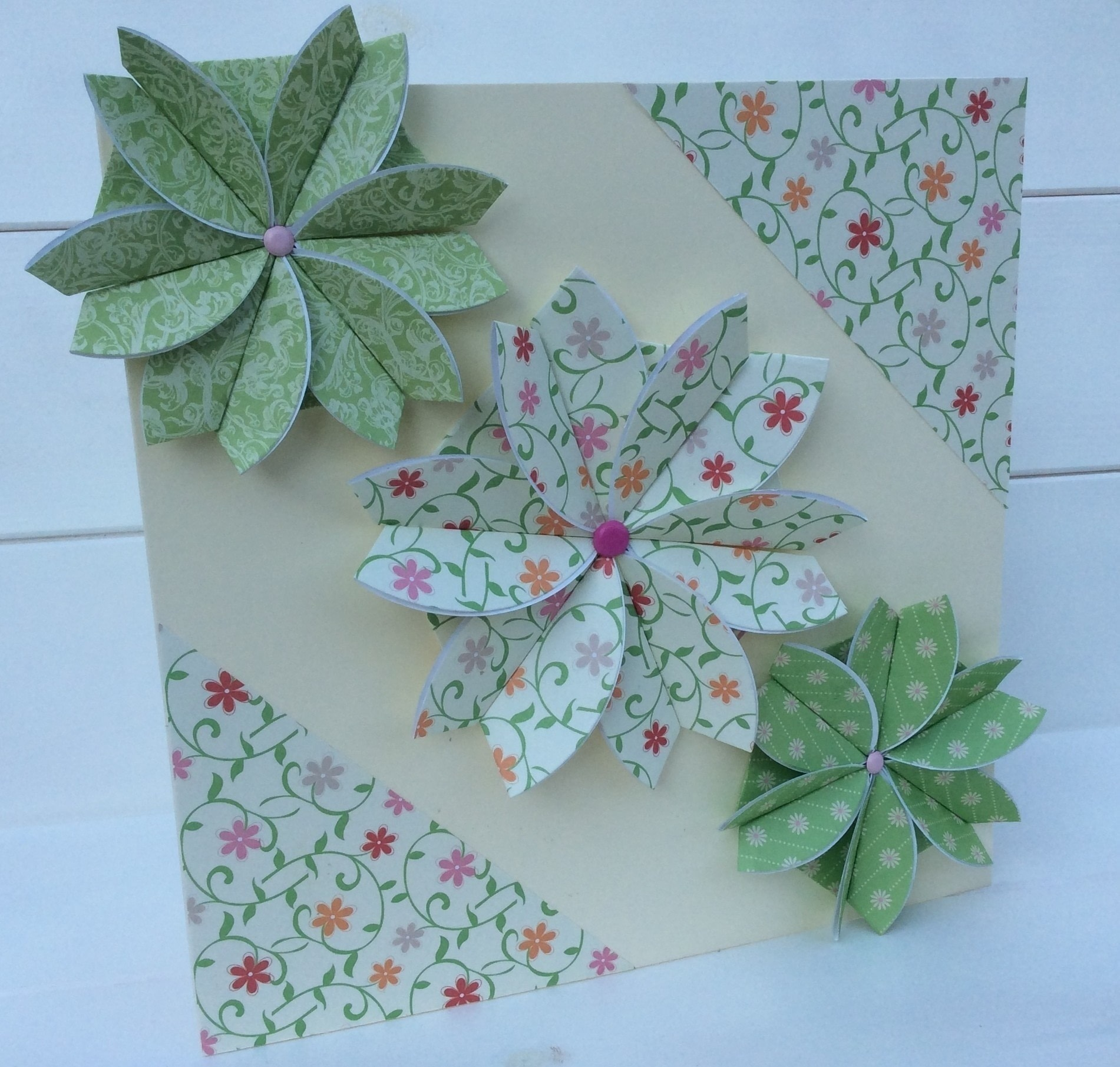 Paper Folded Rosette Card How To Make A Greetings Card