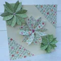Paper Folded Rosette Card