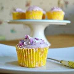 Gluten And Dairy Free Lemon Cupcakes With Raspberry Frosting