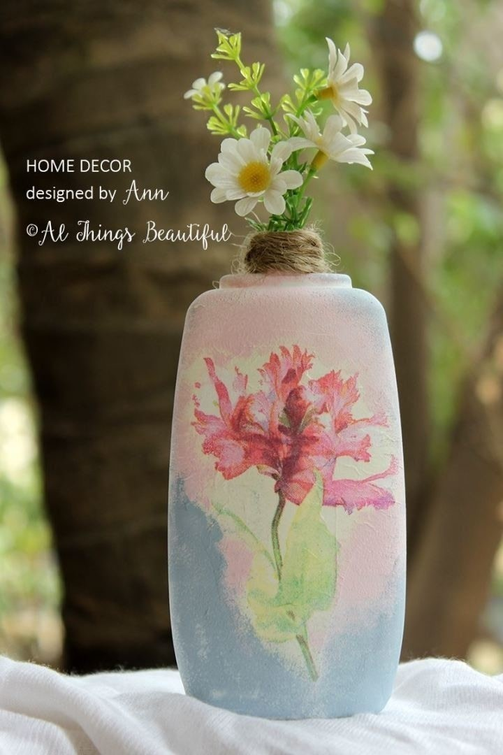 Transformations Using The Craft Of Decoupage How To Make A Vase
