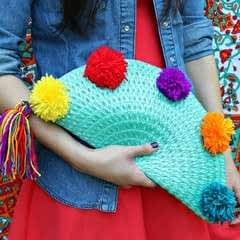 Pom Pom Placemat Purse