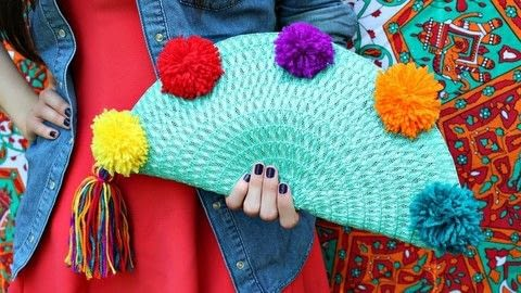 Make a placemat purse! .  Free tutorial with pictures on how to make a clutch in under 60 minutes by yarncrafting and machine sewing with yarn, sewing machine, and zipper. How To posted by Mark Montano.  in the Sewing section Difficulty: Easy. Cost: Cheap. Steps: 3