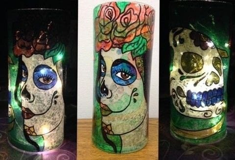 Hand painted glass vases .  Make a lantern in under 90 minutes by creating and drawing Creation posted by artefact.  in the Other section Difficulty: Simple. Cost: No cost.