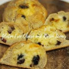 Cheesy Raisin Scones