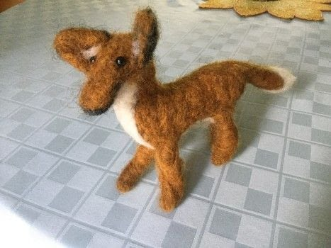 .  Make a model or sculpture using felting needle, wool roving, and black beads. Inspired by foxes. Creation posted by The Dark Vixen.  in the Needlework section Difficulty: 3/5. Cost: Cheap.