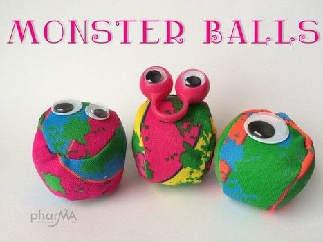 How to Make adorable Monster Toys without any sewing involved! .  Free tutorial with pictures on how to make a toy ball in under 10 minutes by decorating Inspired by monsters. How To posted by The PharMA.  in the Other section Difficulty: Easy. Cost: Cheap. Steps: 2