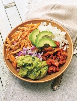 Keto Lunches .  Free tutorial with pictures on how to cook an avocado salad in under 45 minutes by cooking with chicken, enchilada sauce, and chiles. Recipe posted by GMC Group.  in the Recipes section Difficulty: Simple. Cost: Cheap. Steps: 5