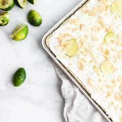 Lime And Coconut Sheet Cake