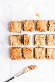 Dense and chewy cookie butter blondies .  Free tutorial with pictures on how to bake a brownie in under 35 minutes by baking with unsalted butter, cookie, and dark brown sugar. Recipe posted by Jenna   Butternut Bakery.  in the Recipes section Difficulty: Simple. Cost: Cheap. Steps: 4