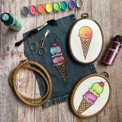 Embroidered & Painted Ice Cream Cone