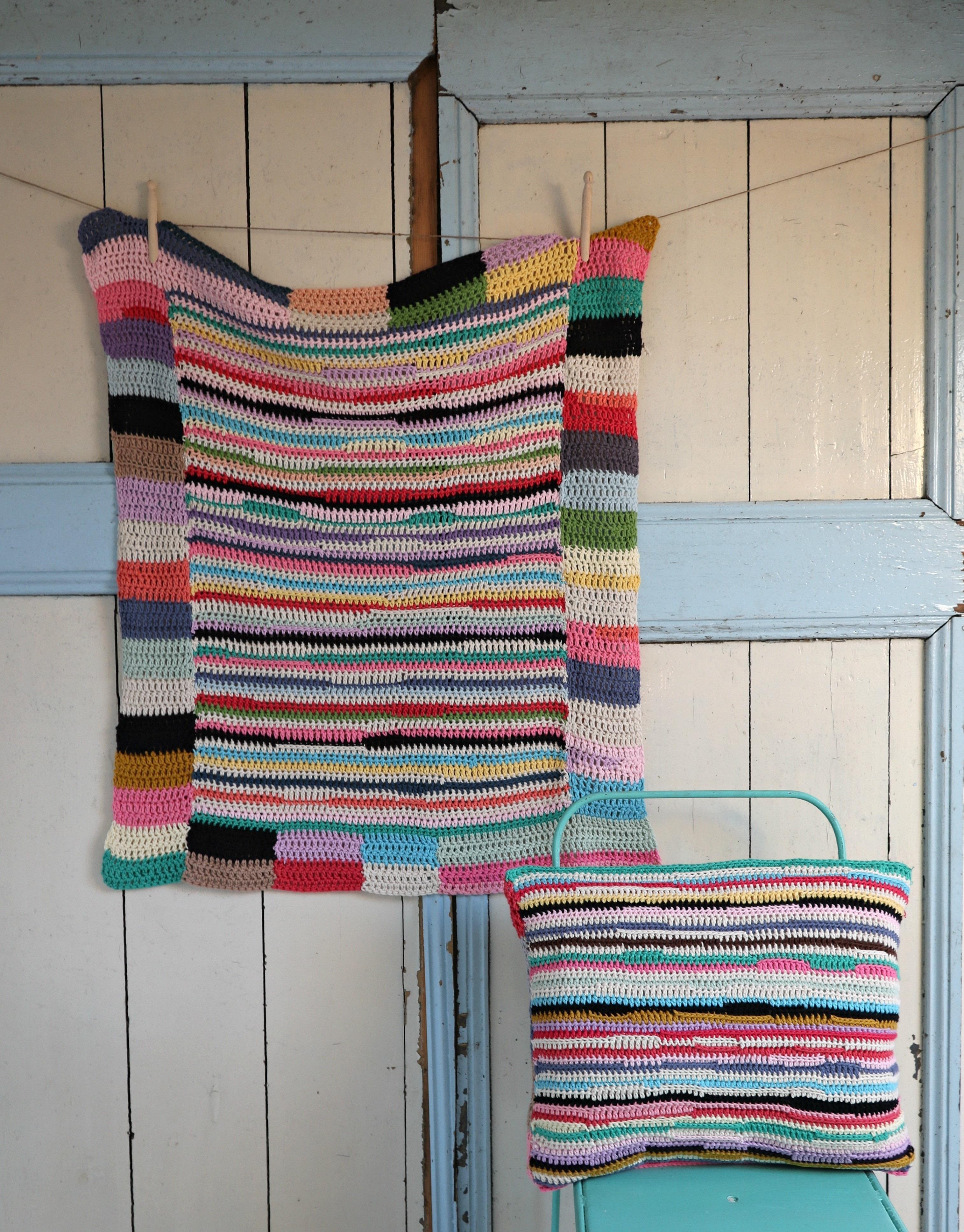 Shiraz Cushion · Extract from Stripy Blankets to Crochet by Haafner ...