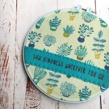 Use appliqué with your embroidery .  Free tutorial with pictures on how to embroider art in 11 steps by embroidering and sewing with embroidery hoop, cotton fabric, and felt. How To posted by Beth C.  in the Needlework section Difficulty: 3/5. Cost: 4/5.
