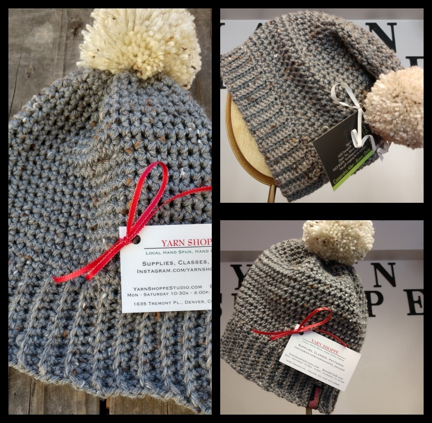 9645cfc82d5 Crochet a beanie hat with Yarn Shoppe . Free tutorial with pictures on how  to make