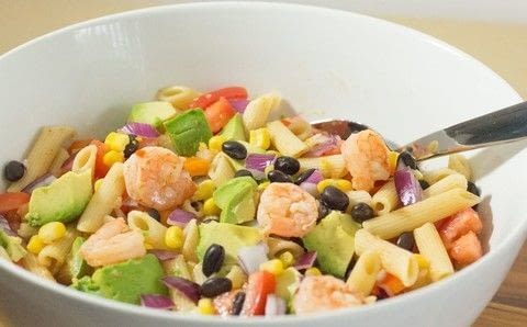 A Delicious Mexican Pasta Salad for a Crowd  .  Free tutorial with pictures on how to cook a pasta salad in under 30 minutes by cooking with penne, shrimps, and oil. Inspired by mexican. Recipe posted by Cleo T.  in the Recipes section Difficulty: 3/5. Cost: 3/5. Steps: 5