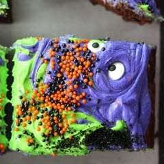 Monster Mash Halloween Brownies
