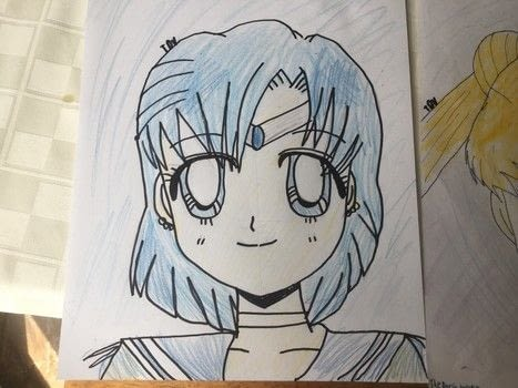 Sailor Moon, Sailor Mercury and Sailor Saturn .  Draw a manga drawing in under 25 minutes by creating and drawing with paper, pencil, and thin sharpie. Inspired by sailor moon. Creation posted by The Dark Vixen.  in the Art section Difficulty: 3/5. Cost: No cost.