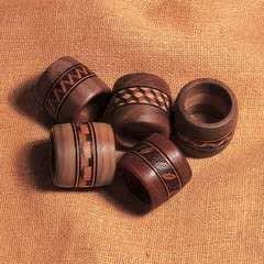 Woodburned Napkin Rings