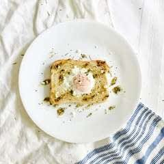 Rosemary Honey Mayo Egg In A Hole Toast