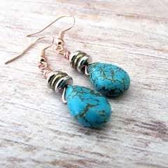 Diy Boho Turquoise Earrings