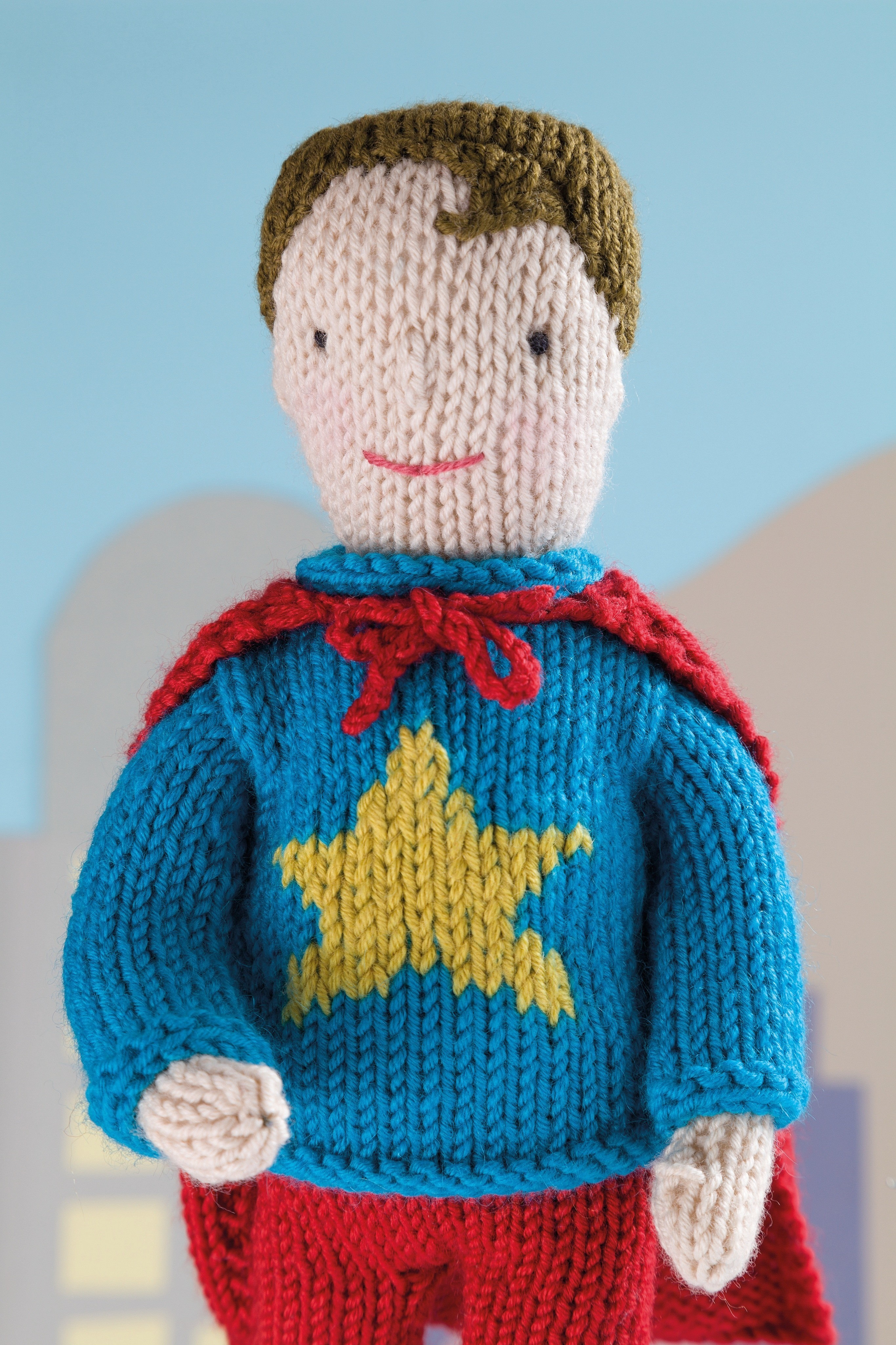 Superhero Stan Extract From Knit Your Own Dolls By Fiona Goble