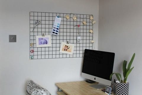 A seriously simple memo board. .  Free tutorial with pictures on how to make an inspiration board in under 60 minutes using spray paint, drill, and screws. How To posted by Kezzabeth.  in the Home + DIY section Difficulty: Easy. Cost: Cheap. Steps: 5