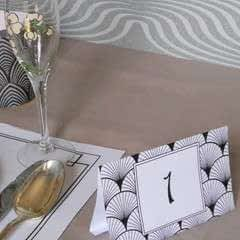 Art Deco Placemats And Table Numbers