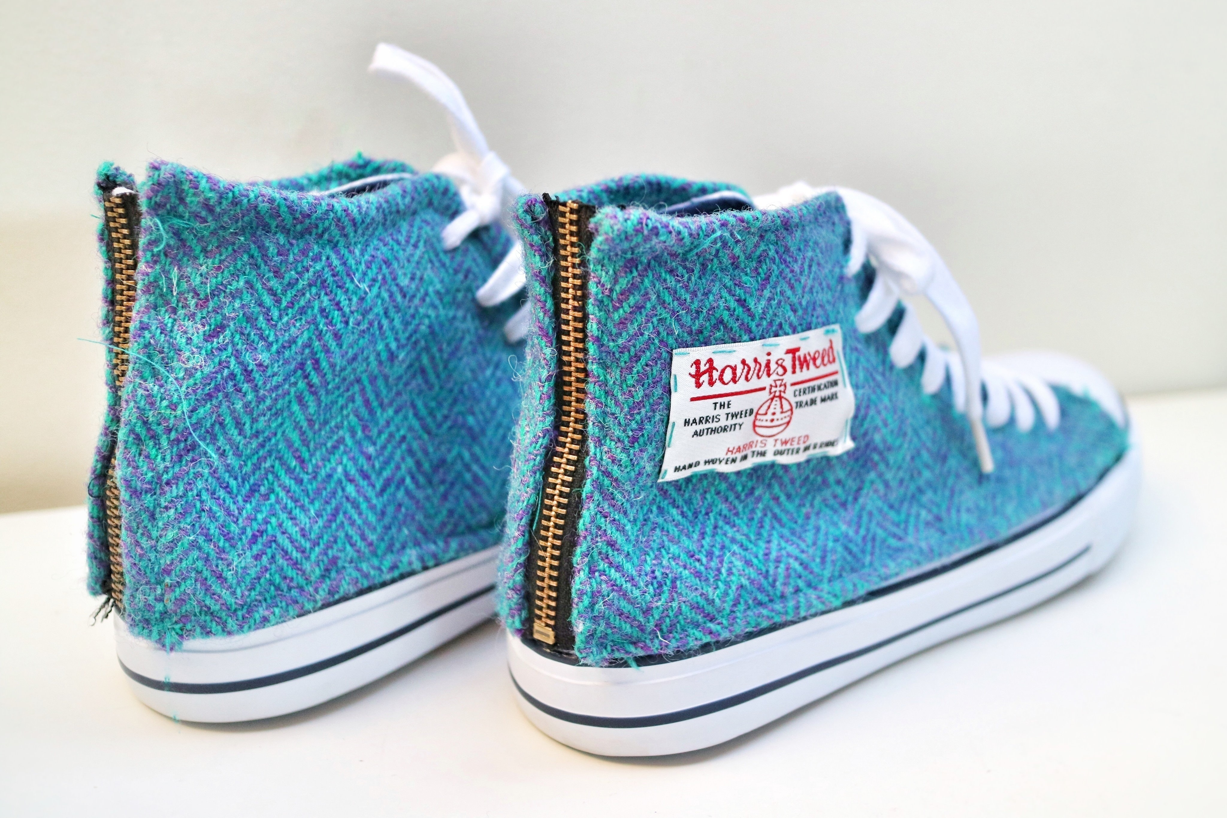 dfe3591c988d Revamp a pair of shoes with some gorgeous harris tweed free tutorial with  pictures jpg 4096x2731
