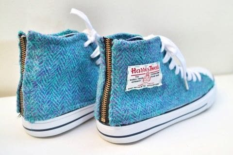 Revamp a pair of shoes with some gorgeous Harris Tweed! .  Free tutorial with pictures on how to make a pair of fabric covered shoes in 31 steps by sewing with tweed, shoes, and paper. How To posted by Cat Morley.  in the Sewing section Difficulty: 3/5. Cost: 3/5.